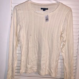 AE Long Sleeve Cream Shirt